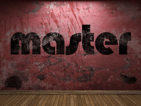 master: master word on red wall