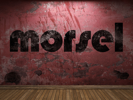 morsel: morsel word on red wall
