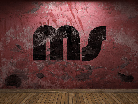 ms: ms word on red wall