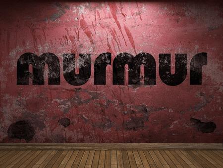 murmur: murmur word on red wall