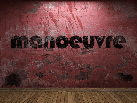 manoeuvre: manoeuvre word on red wall