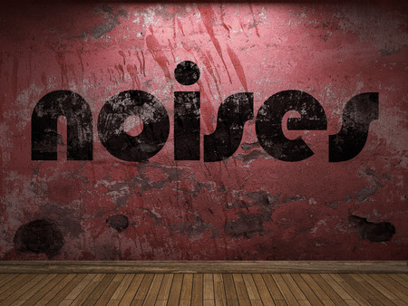 noises: noises word on red wall