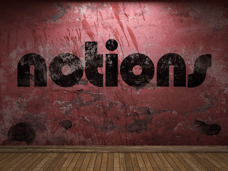 notions: notions word on red wall