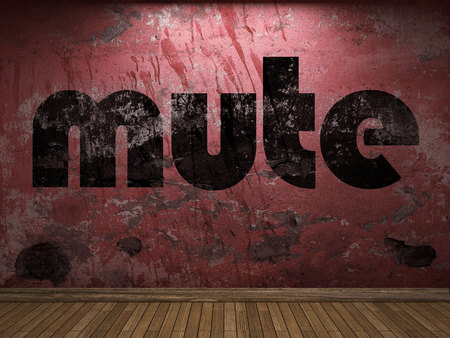 propulsion: mute word on red wall