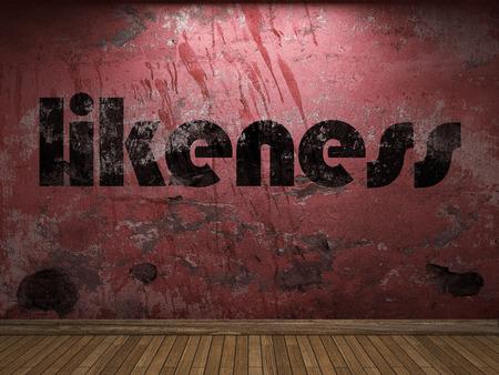 likeness: likeness word on red wall
