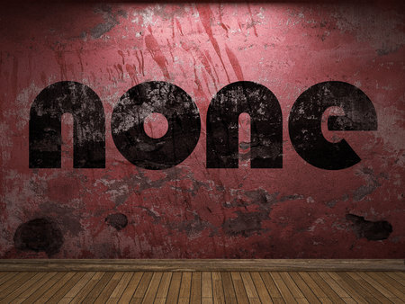 none: none word on red wall