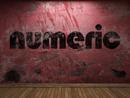 numeric: numeric word on red wall