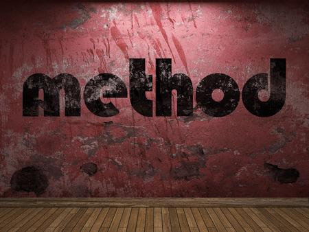 method: method word on red wall