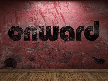 onward: onward word on red wall