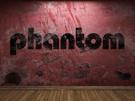 phantom: phantom word on red wall