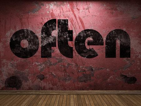 often: often word on red wall