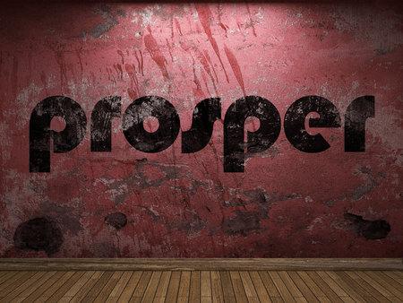 prosper: prosper word on red wall