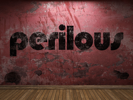 perilous: perilous word on red wall