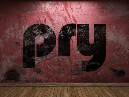 pry: pry word on red wall
