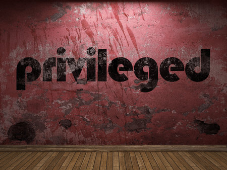 privileged: privileged word on red wall