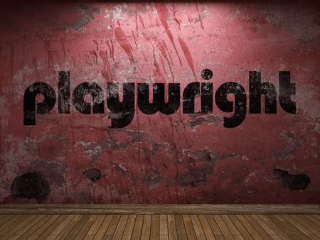 playwright: playwright word on red wall