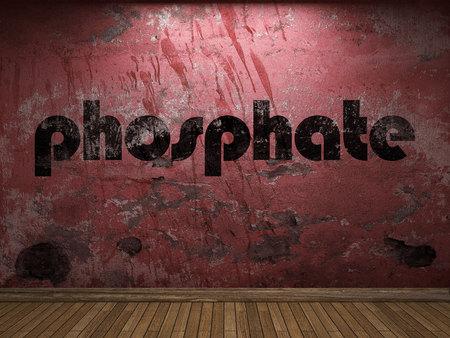 phosphate word on red wall