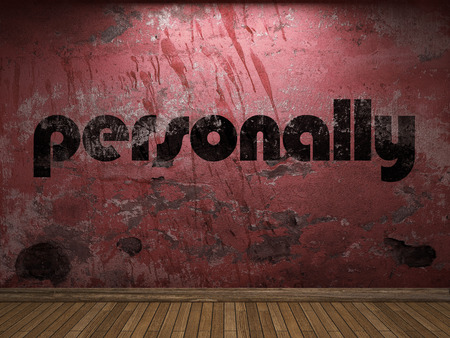 personally: personally word on red wall