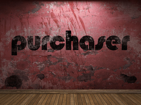 purchaser: purchaser word on red wall