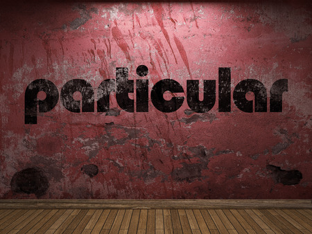 particular: particular word on red wall