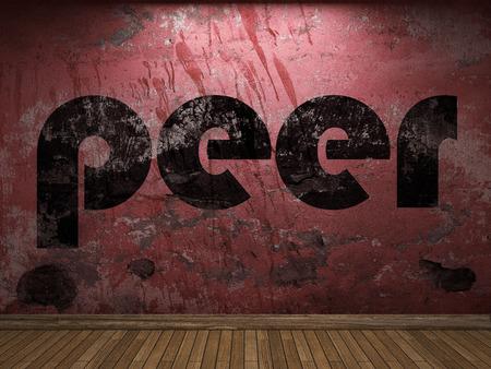peer to peer: palabra de pares en la pared roja