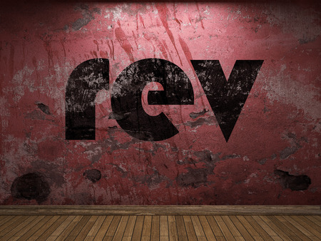 rev: rev word on red wall
