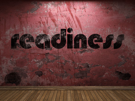 readiness: readiness word on red wall