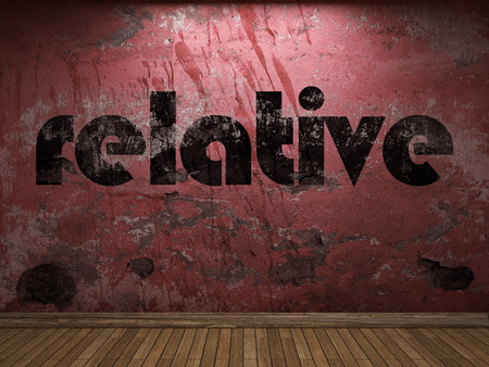 relative: relative word on red wall