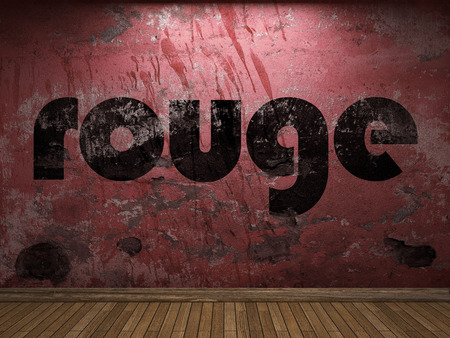 rouge: rouge word on red wall