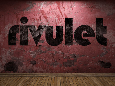 rivulet: rivulet word on red wall