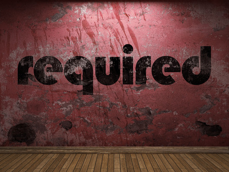 required: required word on red wall