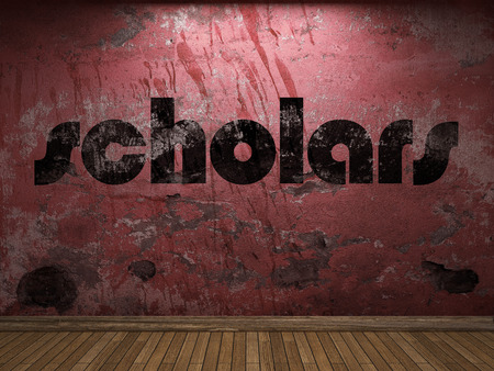 scholars: scholars word on red wall