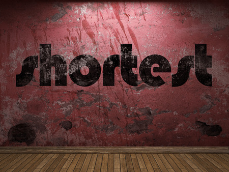 shortest: shortest word on red wall