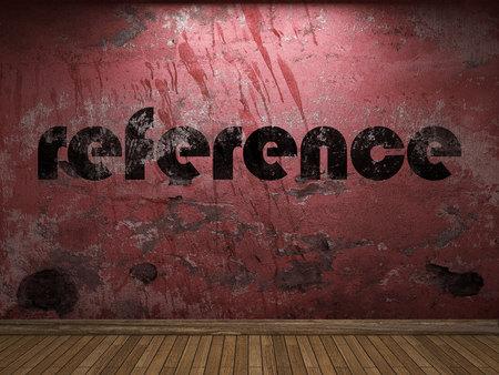 verwijzing woord op rode muur