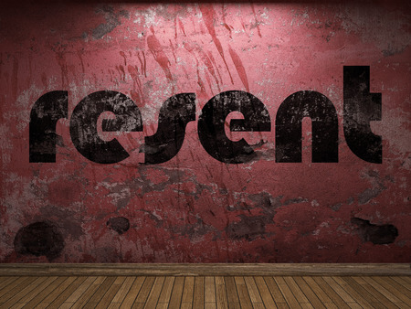 resent: resent word on red wall