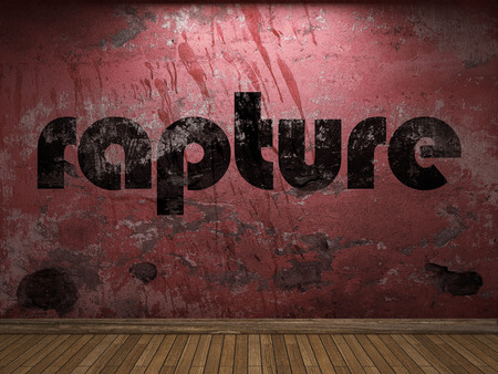 rapture word on red wall