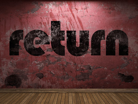 rendement: terug word op rode muur
