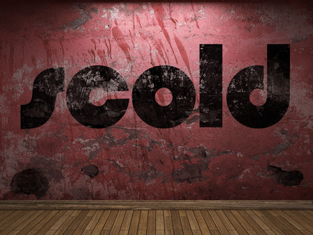 scold: scold word on red wall