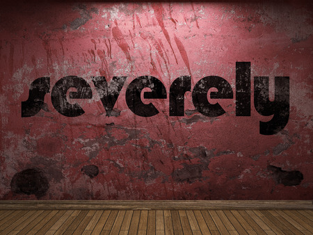 severely: severely word on red wall
