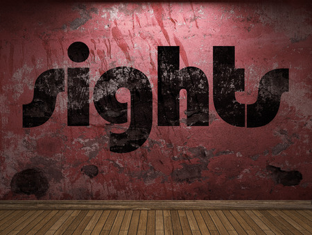 sights: sights word on red wall