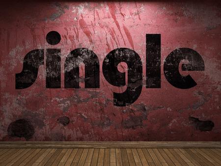 single word: single word on red wall