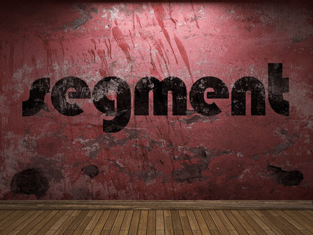 segment word on red wall