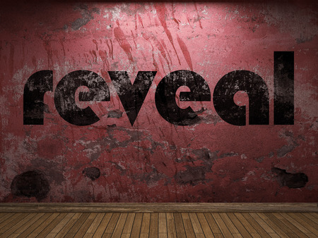reveal: reveal word on red wall