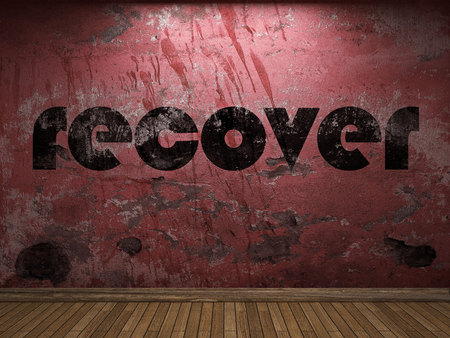 recover: recover word on red wall