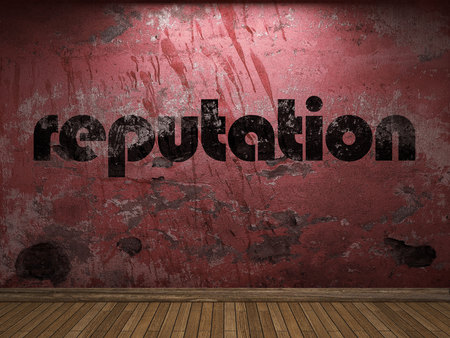 reputation: reputation word on red wall