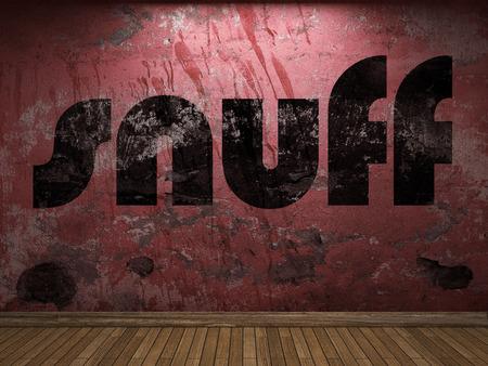 tabaco: palabra tabaco en la pared roja Foto de archivo