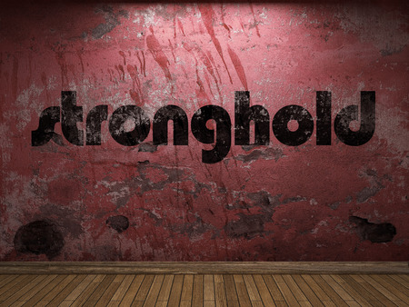 stronghold: stronghold word on red wall