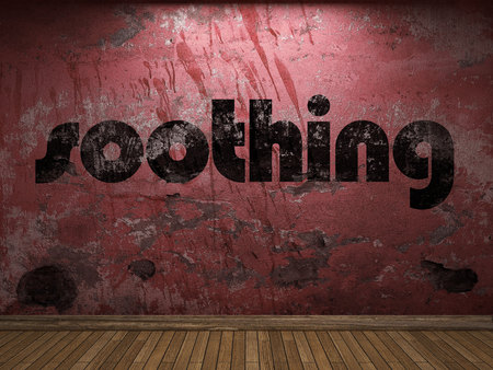 soothing: soothing word on red wall