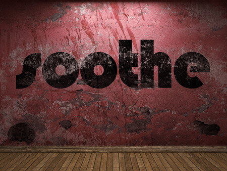soothe: soothe word on red wall