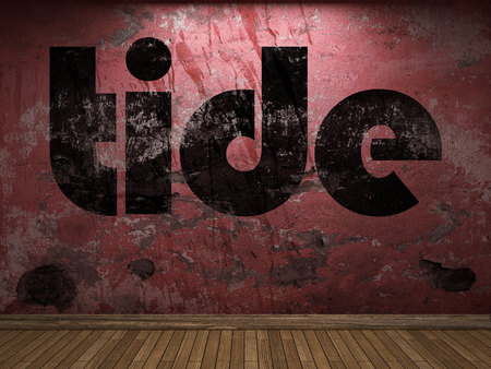tide: tide word on red wall
